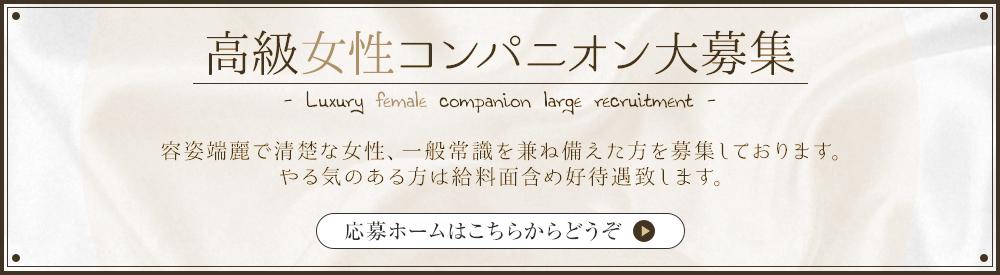 高級女性コンパニオン大募集